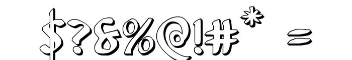 Foucault 3D Font OTHER CHARS
