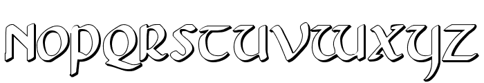 Foucault 3D Font UPPERCASE