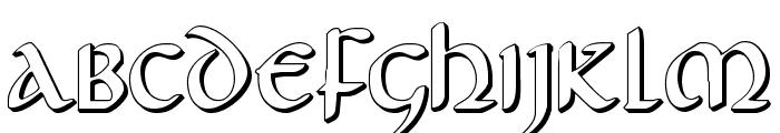 Foucault 3D Font LOWERCASE
