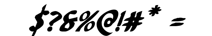 Foucault Bold Italic Font OTHER CHARS