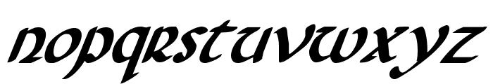 Foucault Bold Italic Font LOWERCASE