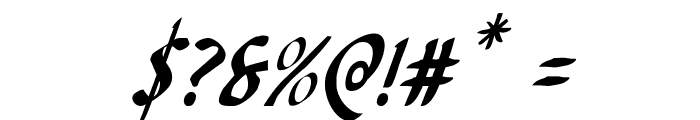 Foucault Condensed Italic Font OTHER CHARS