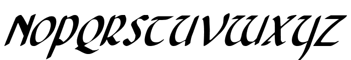 Foucault Condensed Italic Font UPPERCASE