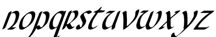 Foucault Condensed Italic Font LOWERCASE