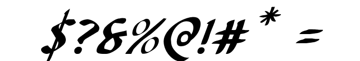 Foucault Expanded Italic Font OTHER CHARS