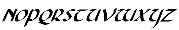 Foucault Expanded Italic Font UPPERCASE
