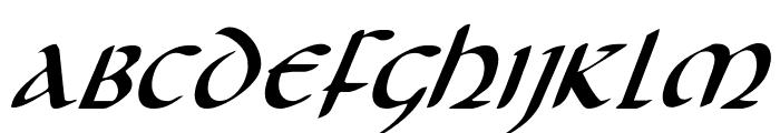 Foucault Expanded Italic Font LOWERCASE
