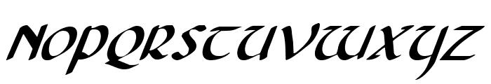 Foucault Italic Font UPPERCASE