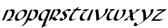 Foucault Italic Font LOWERCASE