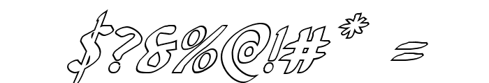 Foucault Outline Italic Font OTHER CHARS