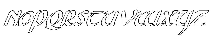 Foucault Outline Italic Font UPPERCASE