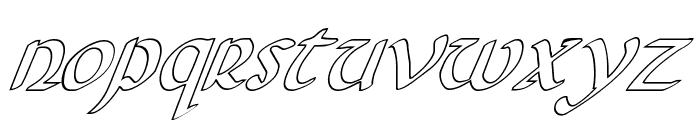 Foucault Outline Italic Font LOWERCASE