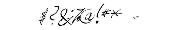 Fountain Pen Frenzy Font OTHER CHARS