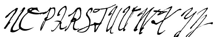 Fountain Pen Frenzy Font UPPERCASE