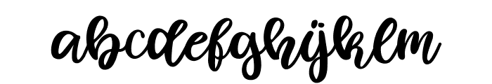 Fowler Font LOWERCASE