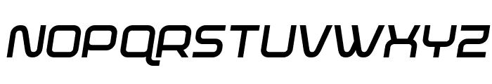 Fox on the Run Bold Semi-Italic Font UPPERCASE