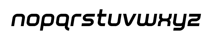 Fox on the Run Bold Semi-Italic Font LOWERCASE