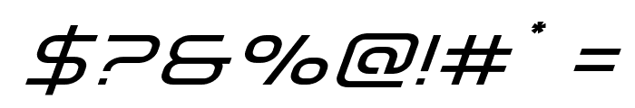 Fox on the Run Expanded Super-Italic Font OTHER CHARS