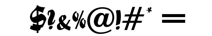 FoxScriptOpti Font OTHER CHARS