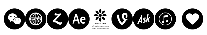 font 100 icons Font OTHER CHARS
