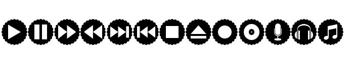 font bottons music pro Font UPPERCASE