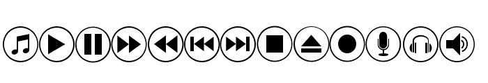 font bottons music pro Font LOWERCASE