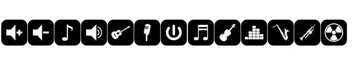 font bottons music Font UPPERCASE