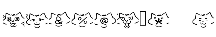 font cats Regular Font OTHER CHARS