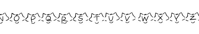 font cats Regular Font UPPERCASE