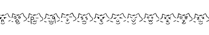 font cats Regular Font LOWERCASE