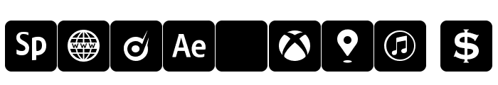 font social media Font OTHER CHARS