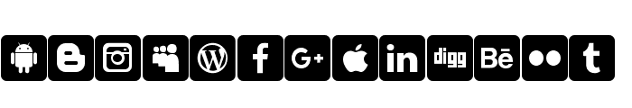 font social media Font LOWERCASE