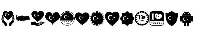 font turkey color Font UPPERCASE