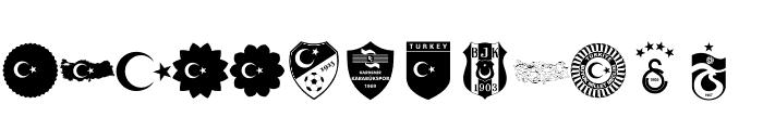 font turkey color Font LOWERCASE