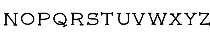 font5 Font LOWERCASE