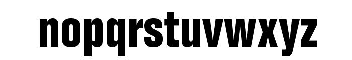 FolioStd-BoldCondensed Font LOWERCASE