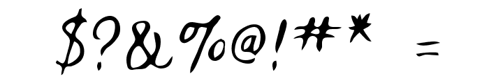 Fountain Pen Font OTHER CHARS