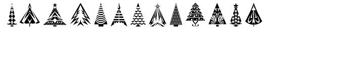 Fontazia Christmas Tree 2 Font UPPERCASE
