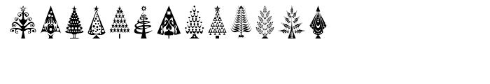 Fontazia Christmas Tree Font UPPERCASE