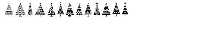 Fontazia Christmas Tree Font LOWERCASE