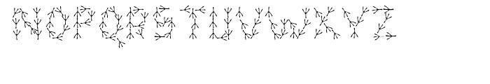 For The Birds Regular Font LOWERCASE