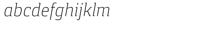 Foral Pro Light Italic Font LOWERCASE