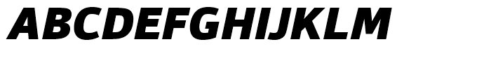 Foro Sans Black Italic Font UPPERCASE