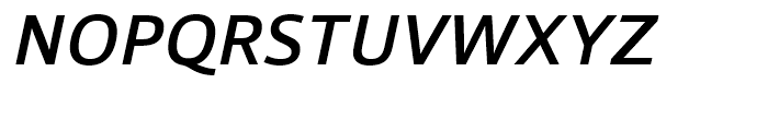 Foro Sans Medium Italic Font UPPERCASE