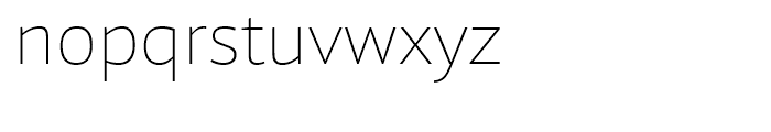 Foro Sans Thin Font LOWERCASE