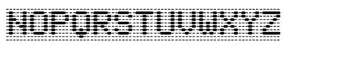 Foundry Dat Regular Font UPPERCASE
