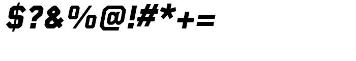 Foundry Gridnik ExtraBold Italic Font OTHER CHARS
