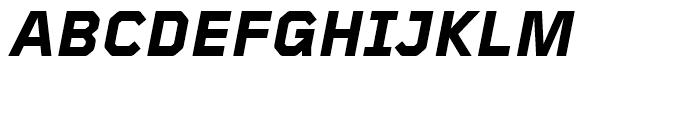 Foundry Gridnik ExtraBold Italic Font UPPERCASE