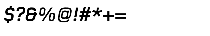 Foundry Monoline OT3 Bold Italic Font OTHER CHARS