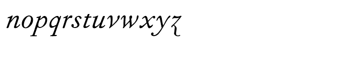 Fournier Italic Font LOWERCASE